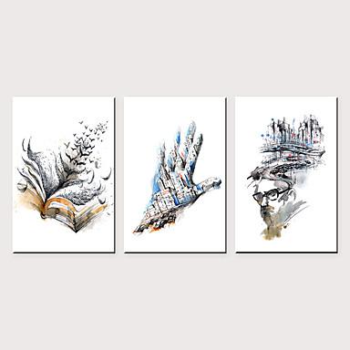 Print พิมพ์ผ้าใบรีด - แอ็ปสแต็ก ที่เร้าใจ คลาสสิก สามภาพ ศิลปะภาพพิมพ์