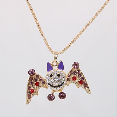 povoljno Modne ogrlice-Žene Ogrlice s privjeskom Izjava Ogrlice Ogrlica Klasičan Sa životinjama Šišmiš Jedinstven dizajn Europska Pozlaćeni Krom Crvena Pink Svjetloplav 70 cm Ogrlice Jewelry 1pc Za Halloween Karneval