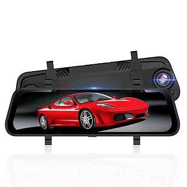 billige Bil-DVR-1296p hd / streaming media bakspeil / dobbel linse bil dvr vidvinkel 10,1 tommers dash cam med gps / nattesyn / g-sensor bilopptaker