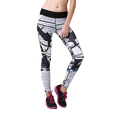 b79eaa59be9 Women s Yoga Pants Red black Dark Pink Black+Sliver Sports Fashion Elastane Tights  Leggings Bottoms Fitness Gym Workout Activewear Breathable Moisture ...