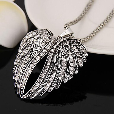 povoljno Modne ogrlice-Žene Duga ogrlica Anđelova krila Jednostavan Krom Imitacija dijamanta Pink 80 cm Ogrlice Jewelry 1pc Za Dnevno