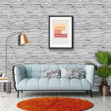 Wallpaper Vinylal Wall Covering - Self adhesive Art Deco / Brick