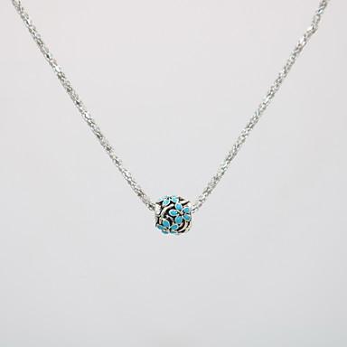 สำหรับผู้หญิง สร้อยคอจี้ สร้อยคอ Charm Necklace คลาสสิค Flower โอชะ ดีไซน์เฉพาะตัว อินเทรนด์ แฟชั่น ชุบเงิน โครเมียม สีดำ สีชมพู สีฟ้า 42 cm สร้อยคอ เครื่องประดับ 1pc สำหรับ เทศกาลคานาวาล Street