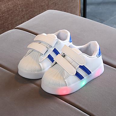 preiswerte Schuhe für Kinder-Jungen / Mädchen Komfort Flyknit Sneakers Kleinkind (9m-4ys) / Kleine Kinder (4-7 Jahre) Rot / Blau / Rosa Frühling / Herbst / Gummi