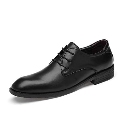 สำหรับผู้ชาย รองเท้าอย่างเป็นทางการ หนัง ฤดูใบไม้ผลิ / ตก ธุรกิจ / ไม่เป็นทางการ รองเท้า Oxfords ไม่ลื่นไถล สีดำ / พรรคและเย็น / พรรคและเย็น / รองเท้าหนัง / ใส่รองเท้า