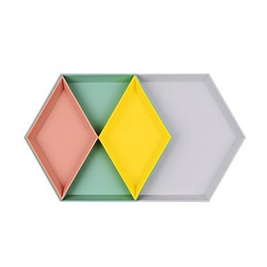 การเก็บรักษา องค์กร เครื่องประดับ พลาสติก รูปสี่เหลี่ยมผืนผ้า / รูปร่างไม่สม่ำเสมอ / รูปร่างเพชร เคลื่อนที่ / Creative / Multilayer