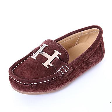 เด็กผู้ชาย ความสะดวกสบาย / แตะ หนังนิ่ม รองเท้าส้นเตี้ยทำมาจากหนังและรองเท้าสวมแบบไม่มีเชือก เด็กวัยหัดเดิน (9m-4ys) / เด็กน้อย (4-7ys) / Big Kids (7 ปี +) สีดำ / กาแฟ / ฟ้า ฤดูใบไม้ผลิ / ตก