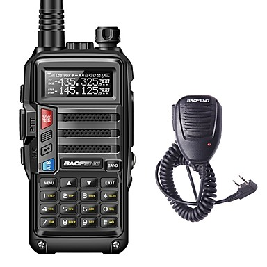 cheap Walkie Talkies-BAOFENG BF-UVS9 Handheld Low Battery Warning / PC Software Programmable / Voice Prompt 5KM-10KM 5KM-10KM 3800 mAh 8 W Walkie Talkie Two Way Radio