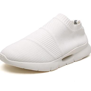 สำหรับผู้ชาย รองเท้าสบาย ๆ Tissage Volant ฤดูร้อนฤดูใบไม้ผลิ ไม่เป็นทางการ / Chinoiserie รองเท้าส้นเตี้ยทำมาจากหนังและรองเท้าสวมแบบไม่มีเชือก สำหรับวิ่ง / วสำหรับเดิน ระบายอากาศ สีดำ / ขาว / กลางแจ้ง