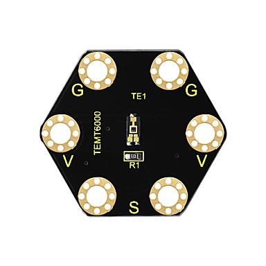 keyestudio temt6000 โมดูลไฟสำหรับบีบีซีไมโครบิต (สีดำและเป็นมิตรกับสิ่งแวดล้อม)