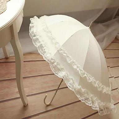 preiswerte Gastgeschenke-Regenschirme Terylen Spitze Hochzeit