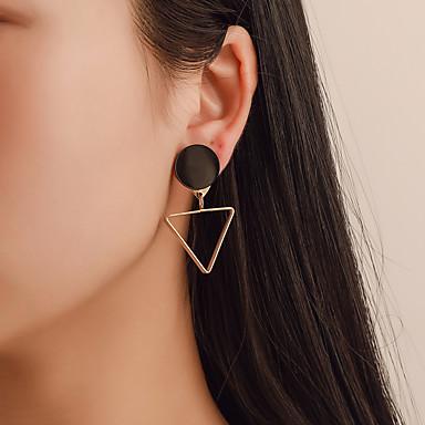 สำหรับผู้หญิง ต่างหูแบบห่วง ต่างหู Mismatch Earrings ทางเรขาคณิต ง่าย เกาหลี แฟชั่น ที่ทันสมัย ต่างหู เครื่องประดับ สีทอง สำหรับ ทุกวัน Street ฮอลิเดย์ ทำงาน เทศกาล 1 คู่