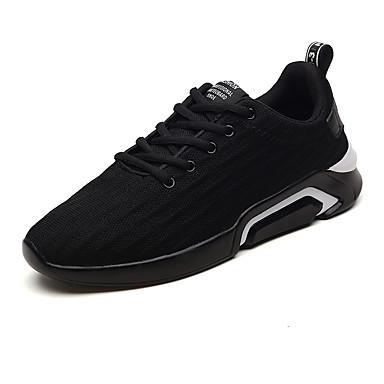 สำหรับผู้ชาย Fashion Boots Tissage Volant ฤดูร้อนฤดูใบไม้ผลิ Sporty / ไม่เป็นทางการ รองเท้ากีฬา วสำหรับเดิน ระบายอากาศ รองเท้าบู้ทหุ้มข้อ สีดำและสีทอง / สีดำและสีขาว / สีเทา / ไม่ลื่นไถล / สวมหลักฐาน