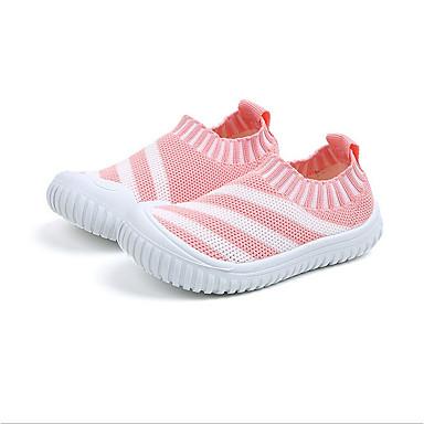 เด็กผู้ชาย / เด็กผู้หญิง สำหรับการเดินครั้งแรก ตารางไขว้ รองเท้าผ้าใบ เด็กวัยหัดเดิน (9m-4ys) / เด็กน้อย (4-7ys) สีดำ / แดง / ฟ้า ฤดูร้อน