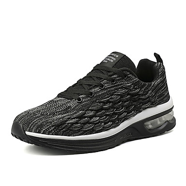 สำหรับผู้ชาย รองเท้าสบาย ๆ PU ฤดูร้อน รองเท้ากีฬา วสำหรับเดิน สีดำ / แดง / ฟ้า