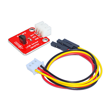lm35 อุณหภูมิ (สีแดง) ขั้วขาวด้วย 3pin ดูปองท์ลวด