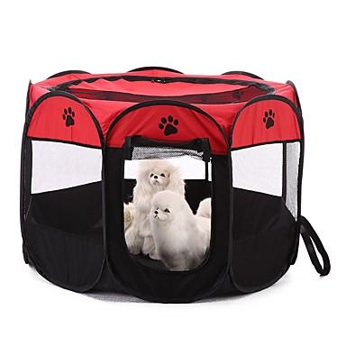 สุนัข ที่นอน ผ้า สัตว์เลี้ยง ผ้าซับใน สีพื้น ลายบล็อคสี รอยพระพุทธบาท / พาว Portable แคมป์ปิ้ง & การปีนเขา เต้นท์ สีเหลือง แดง สีกากี