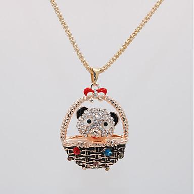 levne Dámské šperky-Dámské Náhrdelníky s přívěšky Náhrdelník dlouhý náhrdelník Klasika Medvěd Zvíře Jedinečný design Sladký Módní Cute Style Chrome Růže pozlacená Růžové zlato 70 cm Náhrdelníky Šperky 1ks Pro Dovolen