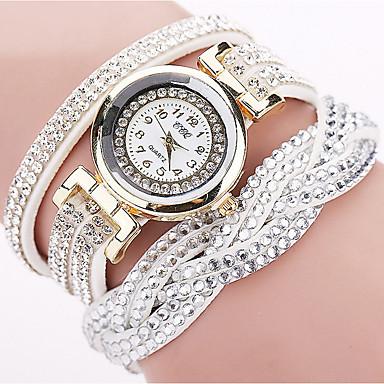 levne Dámské-Dámské Křemenný Náramkové hodinky Cikánské Módní Černá Bílá Červená Nerez Křemenný Černá Bílá Fialová Diamant Hodinky na běžné nošení 1 ks Analogové Jeden rok Životnost baterie
