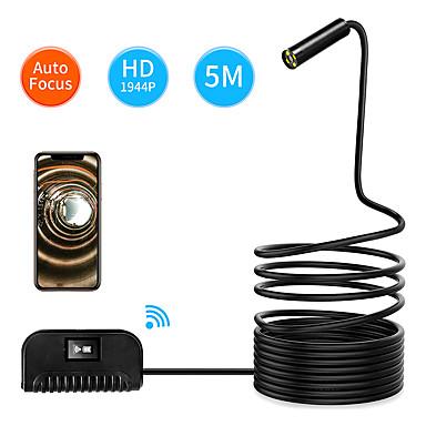 levne Mikroskopy a endoskopy-5m délka auto zaměření wifi inspekční kamera ip68 vodotěsný endoskop 5mp cmos had fotoaparát pro iPhone samsung andorid ios