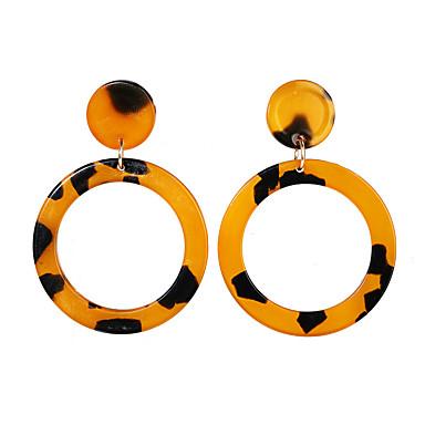 povoljno Modne naušnice-Žene Naušnica Geometrijski Europska pomodan Moda Moderna Naušnice Jewelry Obala / Duga / Braon Za Ulica Izlasci Klub Jabuka 1 par