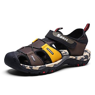Homens Sapatos Confortáveis Com Transparência Primavera Verão Casual Sandálias Respirável Preto / Vermelho / Preto / Amarelo