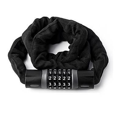 billige Sykkeltilbehør-WEST BIKING® Password Lock Kjedelås til sykkel Bærbar Sammenleggbar låsing Security Holdbar Anti-skjæring Til Vei Sykkel Fjellsykkel Foldesykkel Sykkel med fast gir Sykling Stållegering ABS + PC Svart