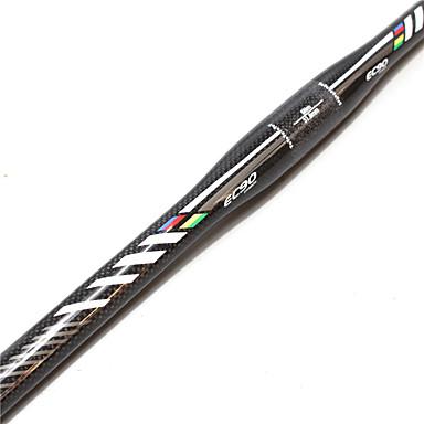 povoljno Dijelovi za bicikl-Carbon Fiber Ravni rukohvati za bicikle Volan 31.8 mm Mala težina Izdržljivost Jednostavna primjena Cestovni bicikl Mountain Bike Biciklizam Crna / srebrna Sliver / Black Mat