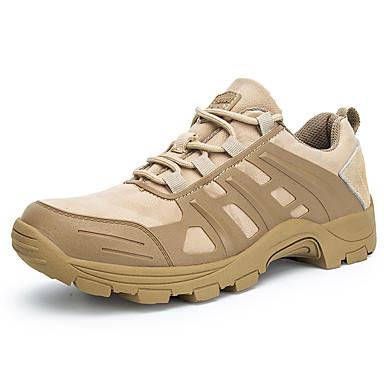 สำหรับผู้ชาย รองเท้าสบาย ๆ หนัง / ผ้ายืดหยุ่น ฤดูใบไม้ผลิ / ตก Sporty / ไม่เป็นทางการ รองเท้ากีฬา เดินป่า / การออกกำลังกายและการฝึกอบรมข้าม ระบายอากาศ สีดำ / Almond / การกรีฑา / ไม่ลื่นไถล