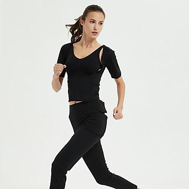 FLYGAGa สำหรับผู้หญิง Track Jacket สีทึบ สีดำ โยคะ วิ่ง การออกกำลังกาย เสื้อแจ็คเก็ต เสื้อไม่มีแขน กีฬา ชุดทำงาน Lightweight ผสมยางยืดไมโคร