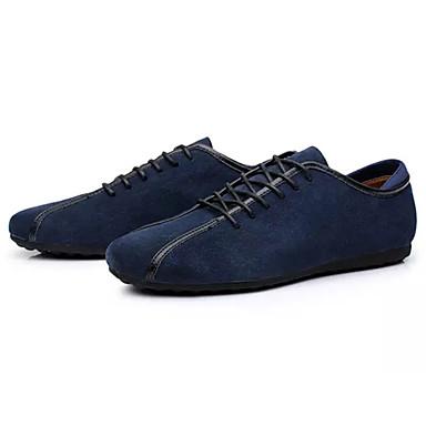 สำหรับผู้ชาย รองเท้าสบาย ๆ PU ฤดูใบไม้ผลิ ไม่เป็นทางการ รองเท้าผ้าใบ ไม่ลื่นไถล สีดำ / ฟ้า / น้ำเงินเข้ม