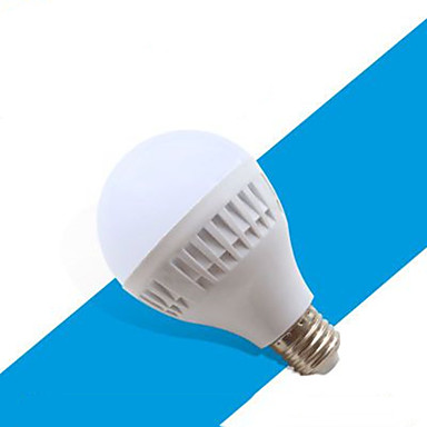 1pc 9 W หลอด LED กลม 410-510 lm E26 / E27 18 ลูกปัด LED ขาวเย็น 220-240 V