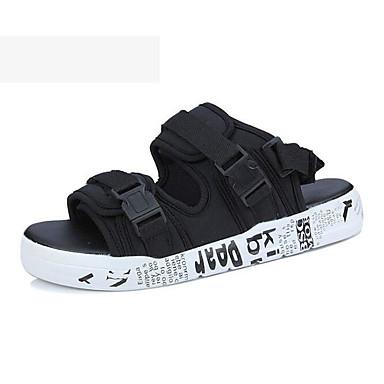 สำหรับผู้ชาย รองเท้าสบาย ๆ Synthetics ฤดูร้อน รองเท้าแตะ สีดำและสีทอง / สีดำและสีขาว / สายรุ้ง / กลางแจ้ง