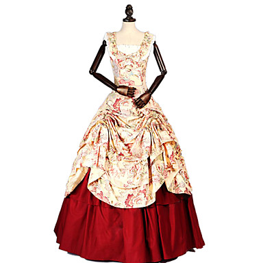 [$129.99] Princess Rococo Victorian Dress Party Costume Costume JSK /  Jumper Skirt Women\'s Costume Beige / Red Vintage Cosplay Cotton Masquerade  Party ...