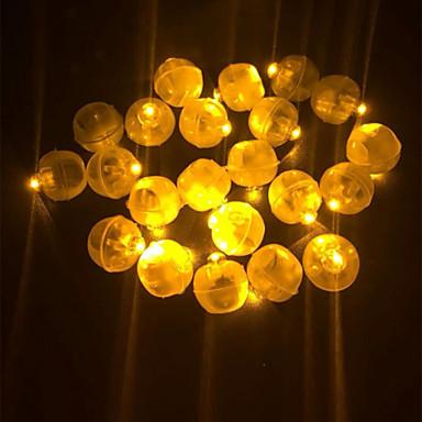 แปลก 50 ชิ้น led มินิพลาสติกรอบบอลบอลลูนแสงสำหรับโคมไฟกระดาษบอลลูนพรรคแต่งงานวันเกิดเทศกาลตกแต่ง