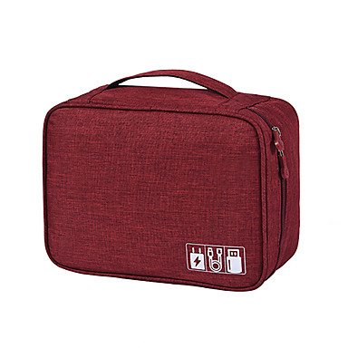 สายเคเบิลกระเป๋าเดินทางแบบพกพาดิจิตอล usb gadget ออแกไนเซอร์สายชาร์จเครื่องสำอางซิปที่เก็บกระเป๋าชุดกรณีวัสดุอุปกรณ์