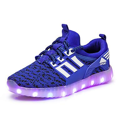 เด็กผู้ชาย / เด็กผู้หญิง Light Up รองเท้า ถัก รองเท้าผ้าใบ เด็กวัยหัดเดิน (9m-4ys) / เด็กน้อย (4-7ys) / Big Kids (7 ปี +) วสำหรับเดิน LED สีดำ / สีบานเย็น / สีเขียว ฤดูใบไม้ผลิ / ตก / ยาง