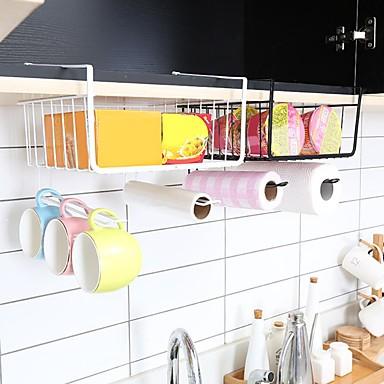 คุณภาพสูง กับ เหล็ก อุปกรณ์เสริมของตู้ / Flatware Organizers / Hanging Baskets ใช้เป็นประจำ / สำหรับเครื่องทำอาหาร ครัว การเก็บรักษา 1 pcs