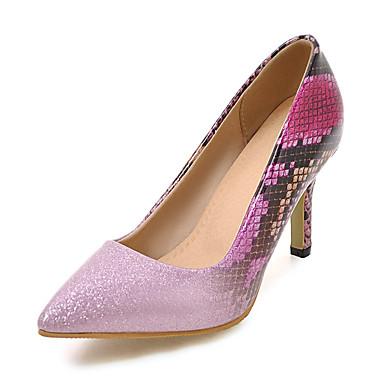 สำหรับผู้หญิง รองเท้าส้นสูง ส้น Stiletto Pointed Toe PU คลาสสิก / minimalism ฤดูใบไม้ผลิ & ฤดูใบไม้ร่วง สีเขียว / สีทอง / ฟ้า / พรรคและเย็น / ทุกวัน / พรรคและเย็น