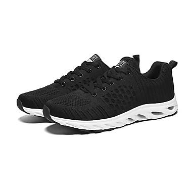 สำหรับผู้ชาย รองเท้าสบาย ๆ Tissage Volant ฤดูใบไม้ผลิ ไม่เป็นทางการ รองเท้ากีฬา สำหรับวิ่ง ระบายอากาศ สีดำ / สีดำ / สีแดง