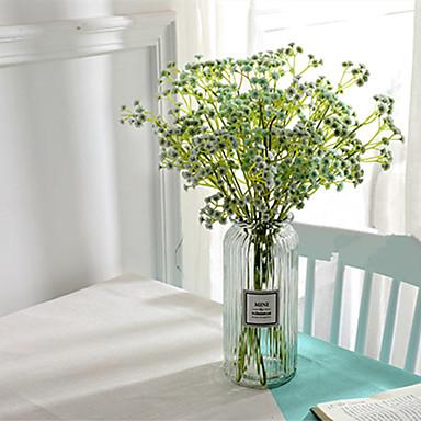 ดอกไม้ประดิษฐ์ 5 สาขา คลาสสิก เกี่ยวกับยุโรป สไตล์เรียบง่าย เบบี้ บรีธ ดอกไม้นิรันดร์ ดอกไม้วางบนโต๊ะ