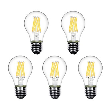 preiswerte LED Glühbirnen-5 Stück 5 W LED Kugelbirnen LED Glühlampen 550 lm E26 / E27 A60(A19) 8 LED-Perlen Hochleistungs - LED Dekorativ Warmes Weiß 220-240 V 220 V 230 V / RoHs