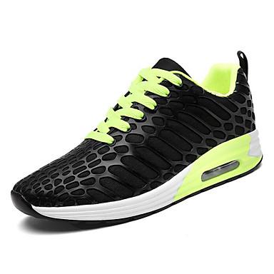 สำหรับผู้ชาย รองเท้าสบาย ๆ Tissage Volant ฤดูร้อน รองเท้ากีฬา สำหรับวิ่ง สีดำ / สีเขียว / ฟ้า