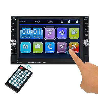 billige Bil Elektronikk-7651D 6.1 tommers 2 Din Symbian Bil multimediaspiller / Bil MP5-spiller Pekeskjerm / Innebygget Bluetooth / Fjernkontroll til VGA Brukerstøtte ASF / 3GP / H.264 mp3 / WMA / OGG jpeg