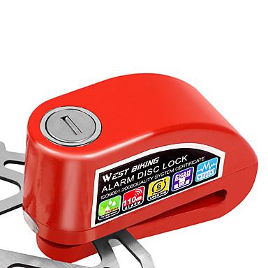 billige Sykkeltilbehør-WEST BIKING® Bremselås Bærbar Holdbar Tyverialarm Lydalarm Ekstra kraftig Til Vei Sykkel Fjellsykkel Sykling Legering Svart Sølv Rød