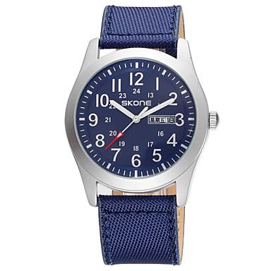 levne Pánské-SKONE Pánské hodinky zábalu japonština Japonské Quartz Nerez Nylon Černá / Modrá / Béžová 30 m Voděodolné Hodinky na běžné nošení Analogové Módní Minimalistické - Béžová Zelená Modrá Dva roky