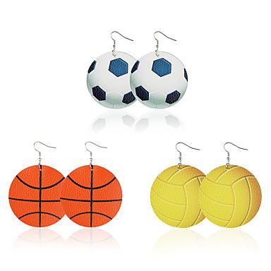 สำหรับผู้หญิง Drop Earrings Tropical ลูกบอล ธรรมชาติ สไตล์โกธิค ที่ทันสมัย ต่างหู เครื่องประดับ สายรุ้ง สำหรับ Street บาร์ 3 คู่
