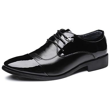 สำหรับผู้ชาย รองเท้าอย่างเป็นทางการ PU ฤดูร้อนฤดูใบไม้ผลิ คลาสสิก / อังกฤษ รองเท้า Oxfords ช็อตดูดซับ สีดำ / สีน้ำตาล / กลางแจ้ง