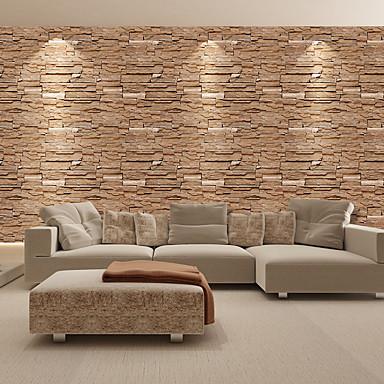 저렴한 벽지-벽지 비닐 벽 취재 - 접착성이 있는 아트 데코 / 벽돌