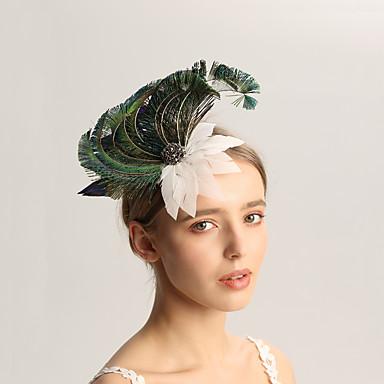 ขนนก fascinators กับ ขนนก 1pc งานแต่งงาน / โอกาสพิเศษ หูฟัง